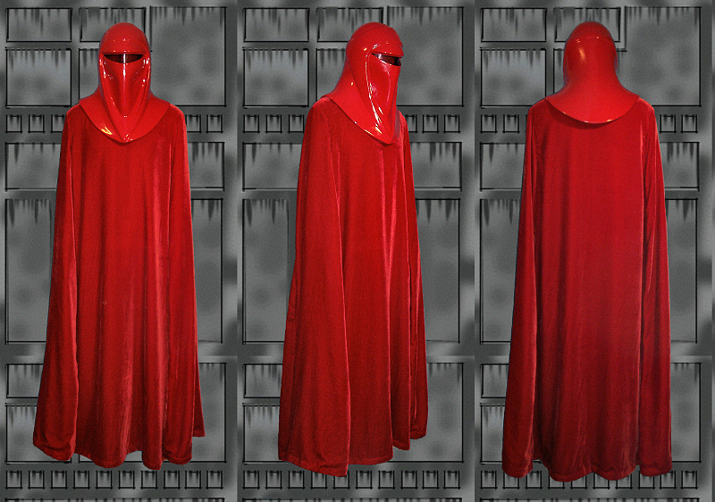 The crimson robe of the Emperor's personal guard, made in a rich velvet to